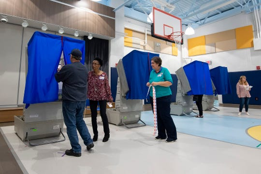 Voters cast ballots in the 2018 mid-term election at H.O. Brittingham Elementary School in Milton.