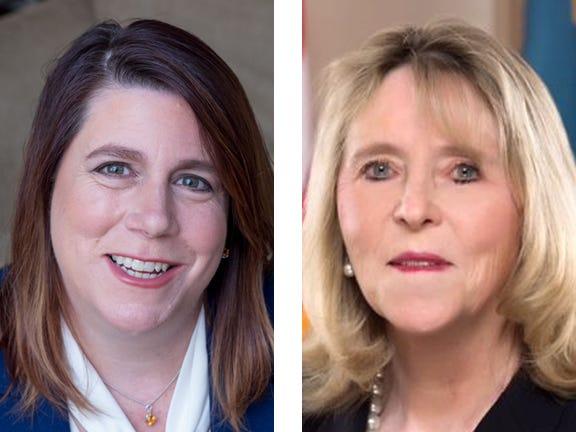 Democratic challenger Krista Griffith (left) and Republican incumbent Deborah Hudson