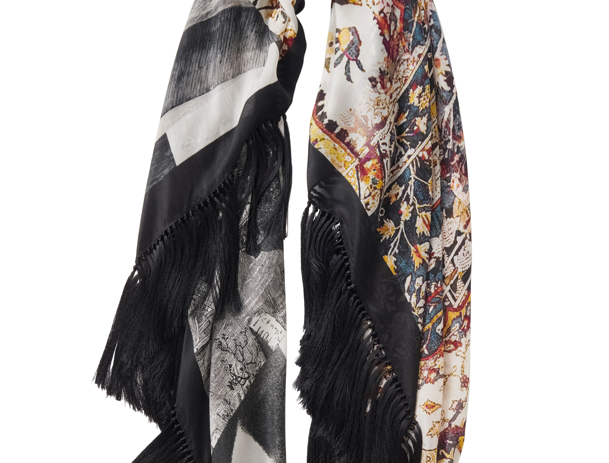 H&M says products consisting of at least 50% sustainable material are labeled with a Conscious hang tag. Here, a tencel blend scarf in H&M's Conscious Exclusive collection for autumn and winter priced at $59.99.