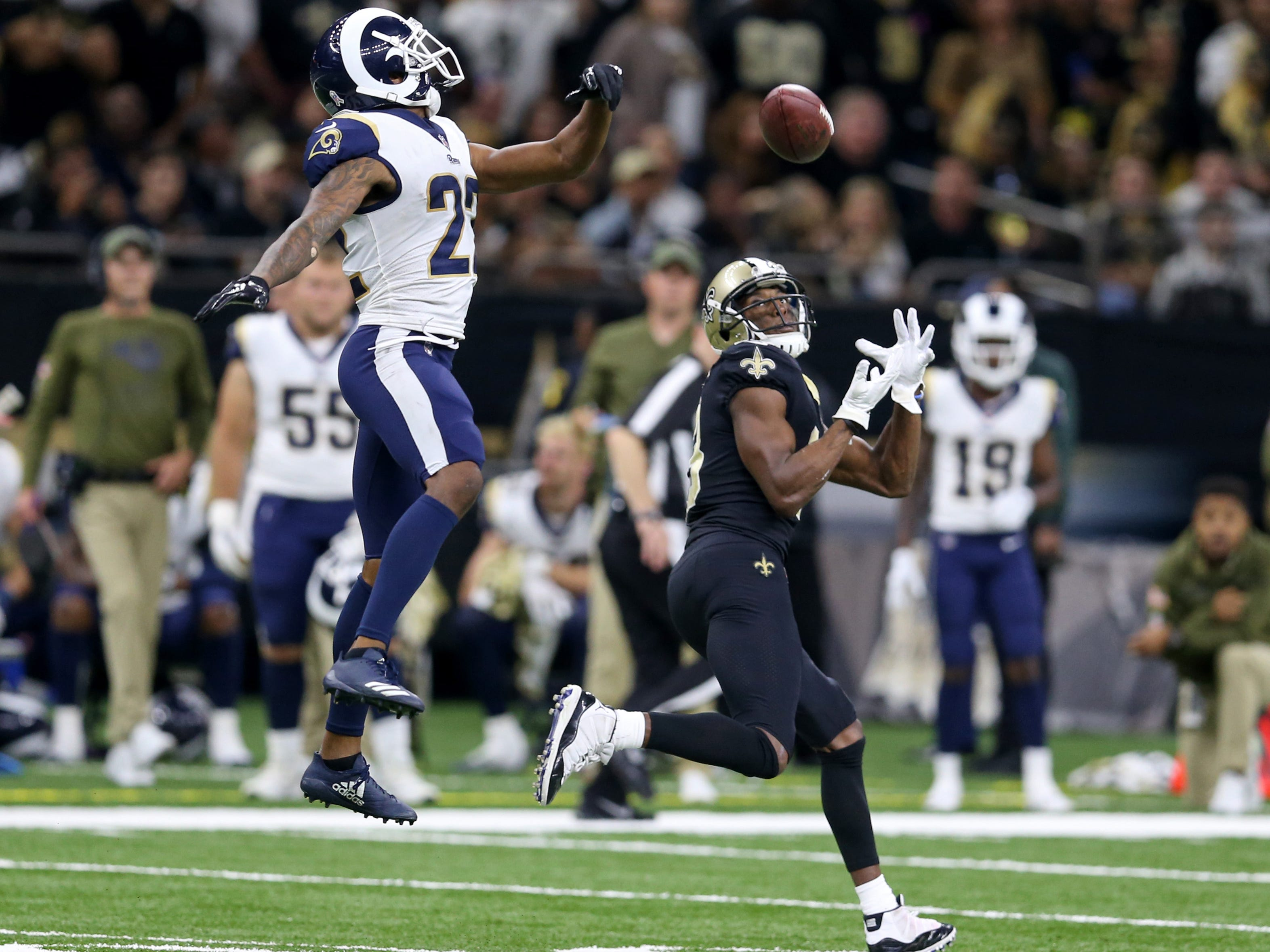 2. Rams (1): After getting roasted by Drew Brees, CB Marcus Peters was summarily roasted on social media. Aqib Talib's return will be important waypoint.