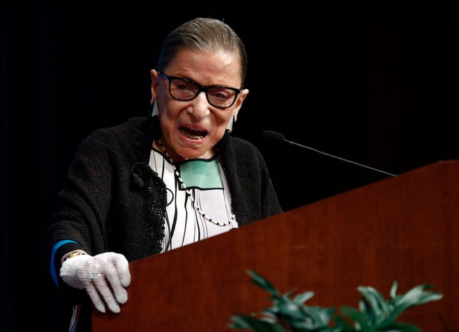 Supreme Court Associate Justice Ruth Bader Ginsburg delivered the court's first full opinion of its new term Tuesday in an age discrimination case.
