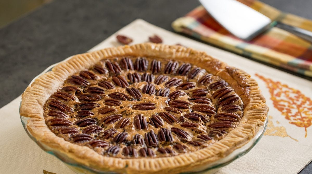 Try this pecan pie for Pie Day.