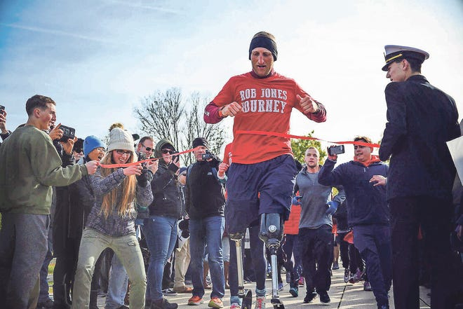 Last fall, Marine Corps veteran Rob Jones ran 31 marathons in 31 cities in 31 days, all on two prosthetics.