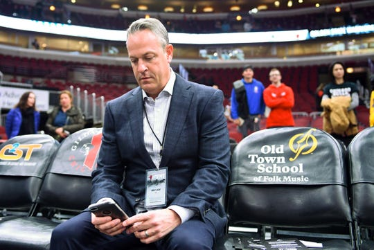 Sports agent Bret Just has many coaches and many games to keep track of during the college and NBA seasons.