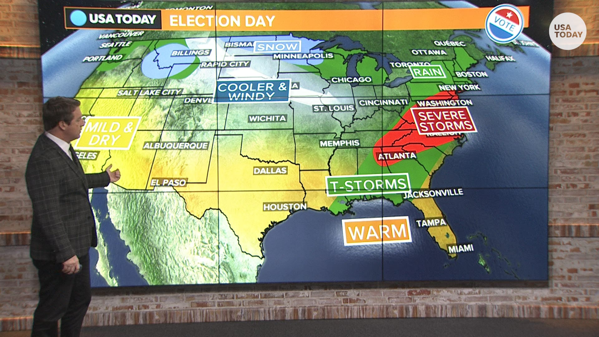 Election Day Weather Forecast Big Storm To Blast Eastern Us - Weather-map-for-eastern-us