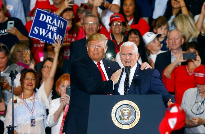 President Donald Trump and Vice President Mike Pence on Nov. 3, 2018, in Pensacola, Florida.