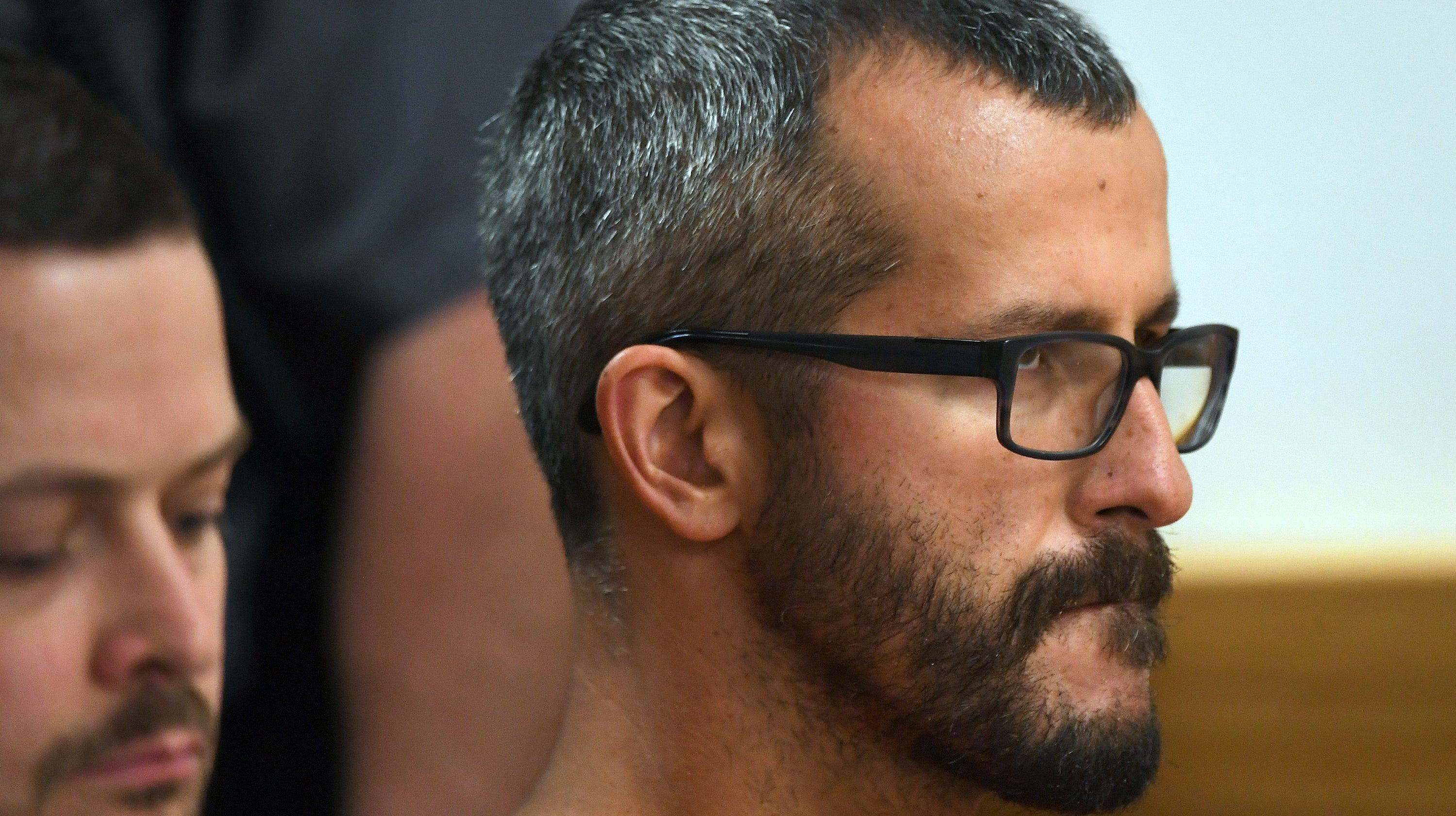 Christopher Watts has his first court appearance Aug. 21, 2018, in Roggen, Colorado. He pleaded guilty Nov. 6, 2018, to nine counts, including several counts of first-degree murder of his wife and two young daughters.