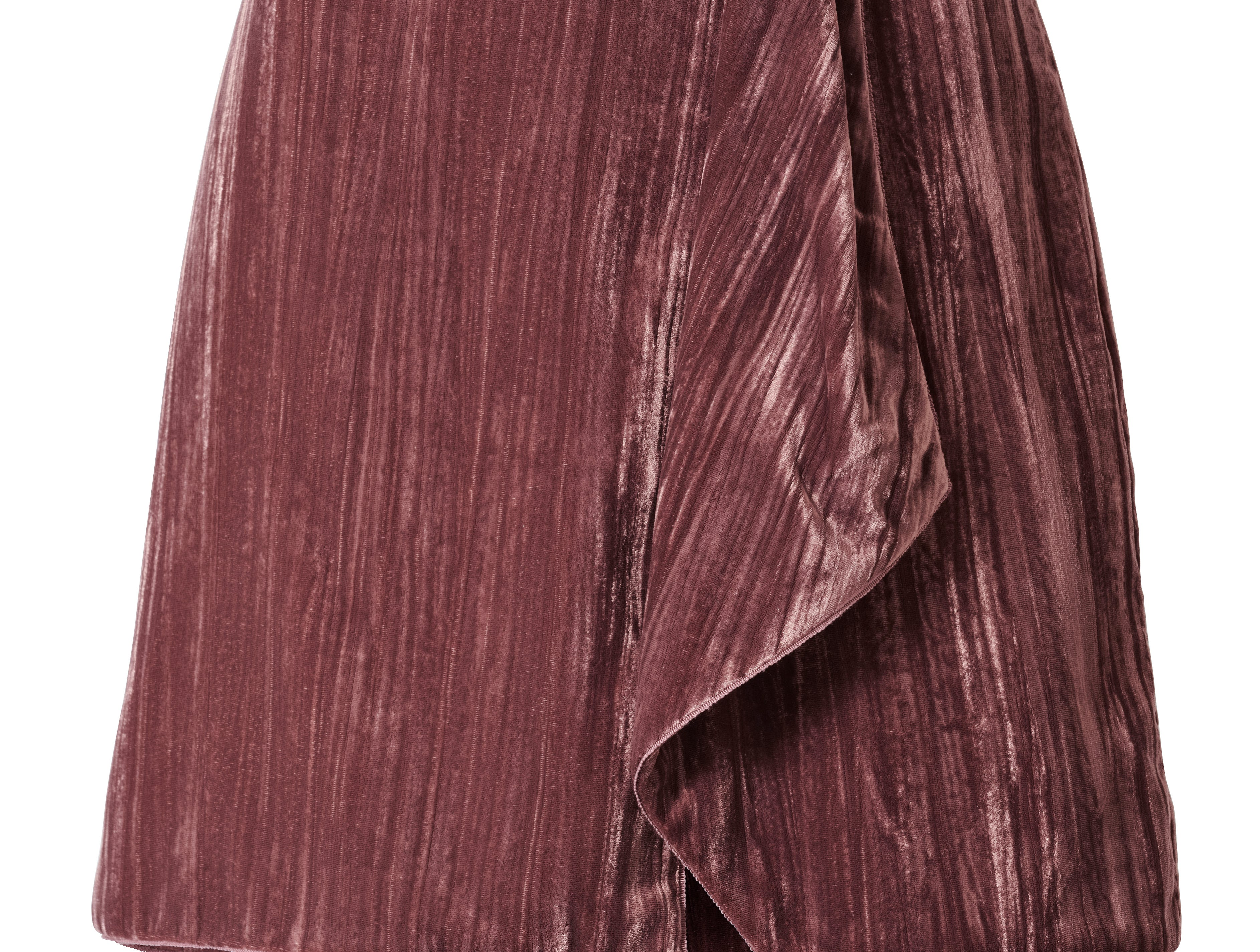 H&M's Conscious Exclusive collection for autumn and winter is it first to use velvet fabric made from recycled polyester. Here, a skirt made from the material that is priced at $59.99.