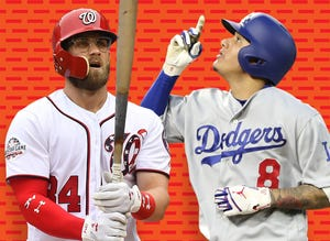 Bryce Harper and Manny Machado are the top two free agents this winter.