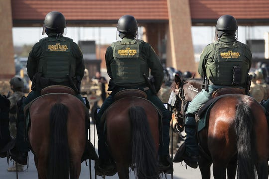 U.S Customs and Border Protection agents at a training exercise.