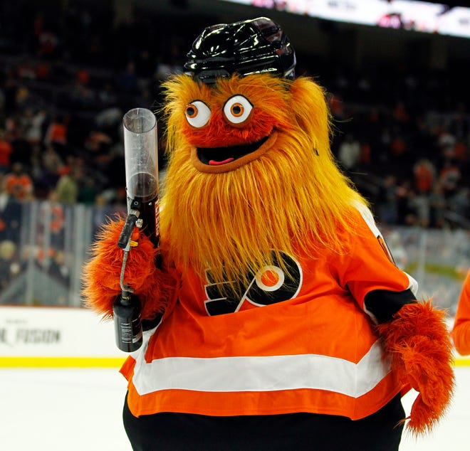 Gritty, the Flyers' mascot, has won over countless fans.