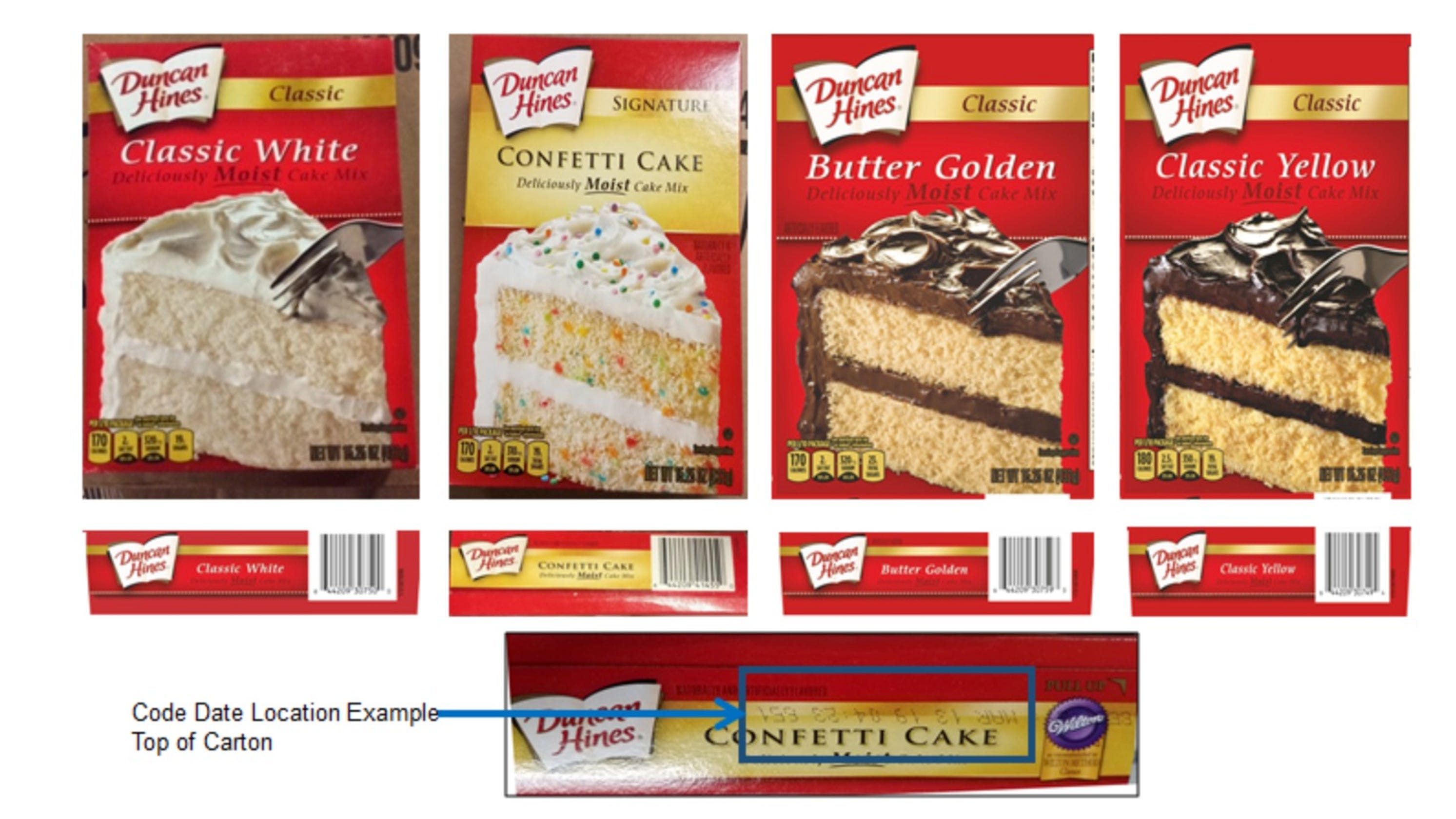 Duncan Hines Recall 2 4 Million Boxes Of Cake Mix May Be