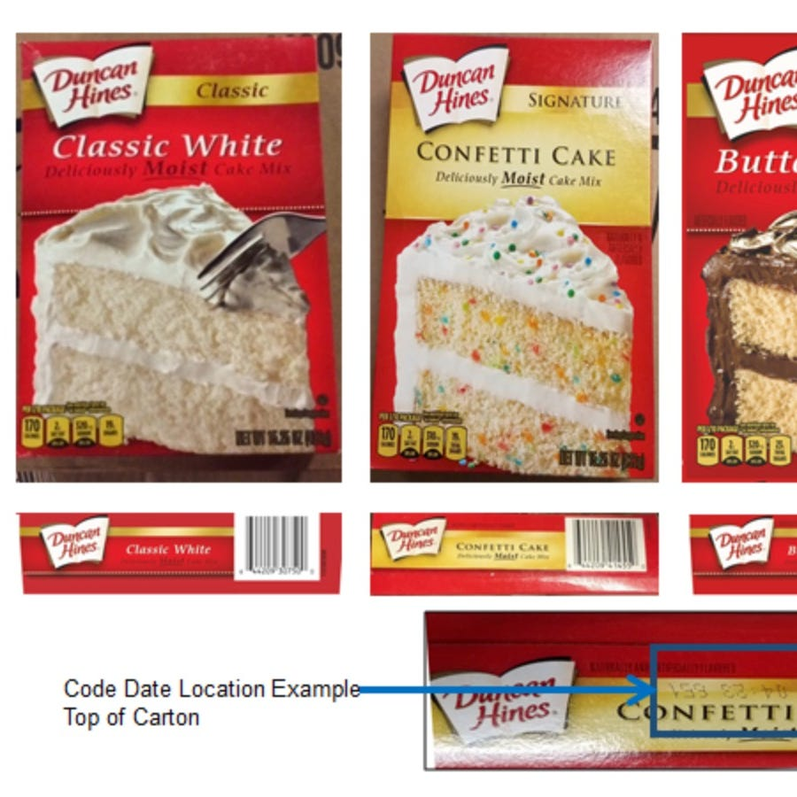 Duncan Hines recalls several cake mixes due to possible salmonella