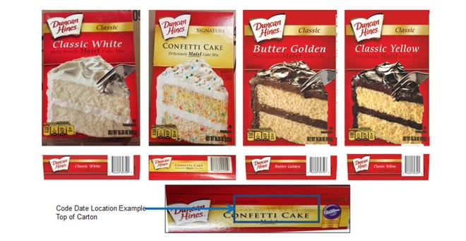 Conagra Brands, parent company of Duncan Hines, is recalling some of its cake mixes after a retail sample of Duncan Hines Classic White cake mix was potentially linked to a Salmonella outbreak that is currently being investigated by CDC and FDA. Conagra has also decided to voluntarily recall three other varieties (Classic Butter Golden, Signature Confetti and Classic Yellow) made during the same time period out of an abundance of caution.