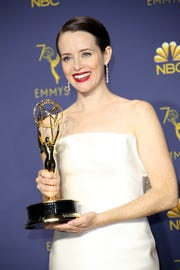 """Claire Foy picked up her first Emmy Award for outstanding lead actress for period drama """"The Crown."""""""