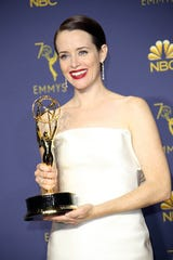 "Claire Foy picked up her first Emmy Award for outstanding lead actress for period drama ""The Crown."""