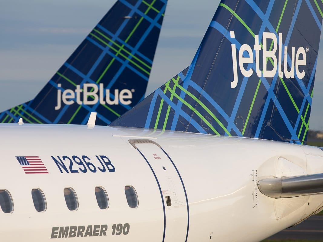 JetBlue aircraft at Boston Logan International Airport in October 2018.