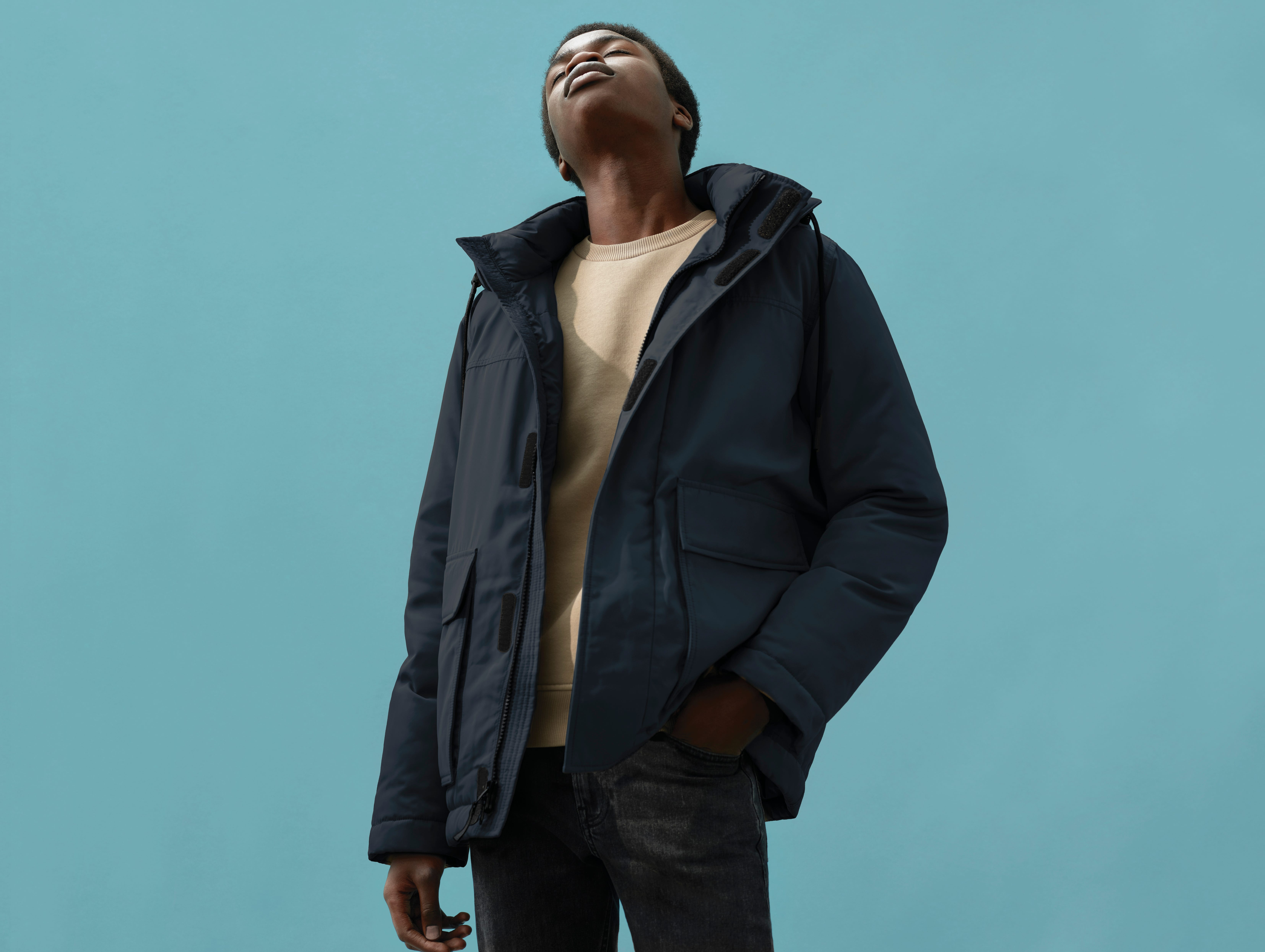 Everlane says it is reusing 3 million plastic bottles in the making of its new ReNew collection of outerwear. Here, the collection's Oversized Park for men, which costs $165. Each of the parkas is made with 65 recycled bottles.