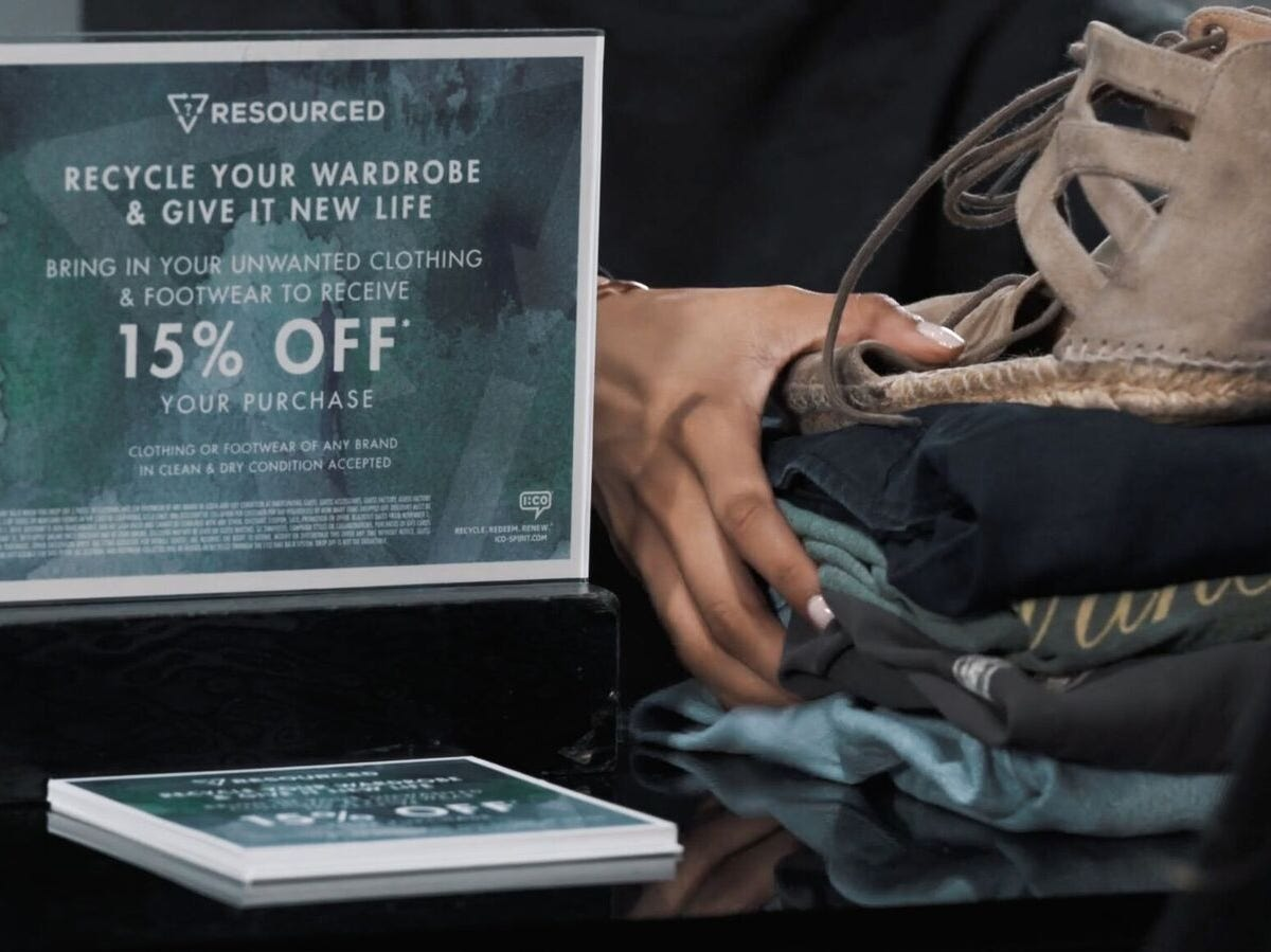 Fashion brand GUESS on Oct. 23, 2018 launched a nationwide wardrobe recycling program at its stores in partnership with recycling company I:CO. Customers who bring five or more items of used clothing to GUESS stores in the United States for recycling will receive 15% off a full-priced purchase in-store or online (subject to certain restrictions).