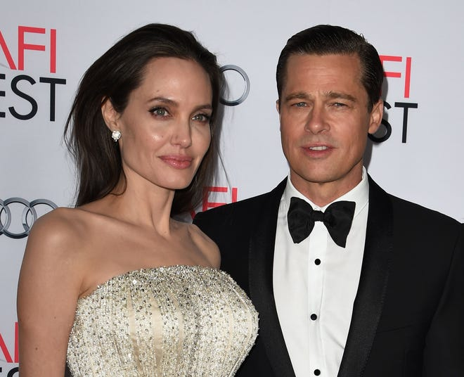 Angelina Jolie and Brad Pitt in 2015 at a premiere in Hollywood.