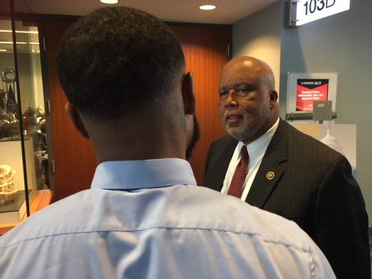 Rep. Bennie Thompson, D-Miss., talked to conferees at the Congressional Black Caucus Foundation's annual legislative conference Sept. 13, 2018, in Washington, D.C.