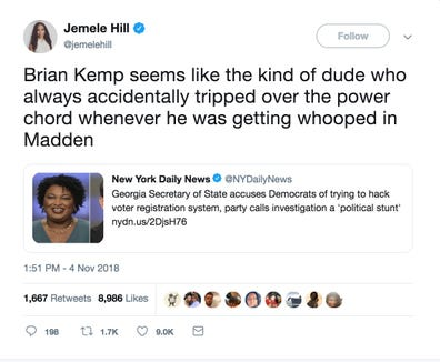 A tweet from @jemelehill.