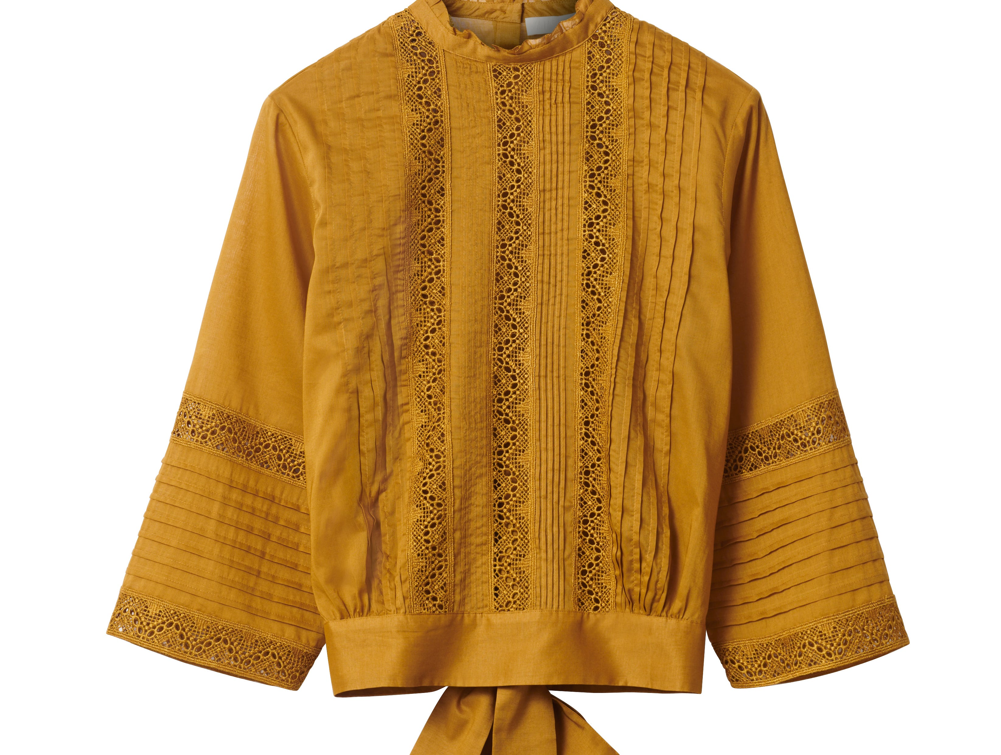 H&M's Conscious Exclusive collection for autumn and winter also features clothing made from organic cotton, such as this blouse priced at $79.99.