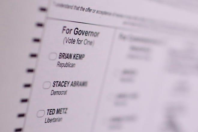 A sample ballot