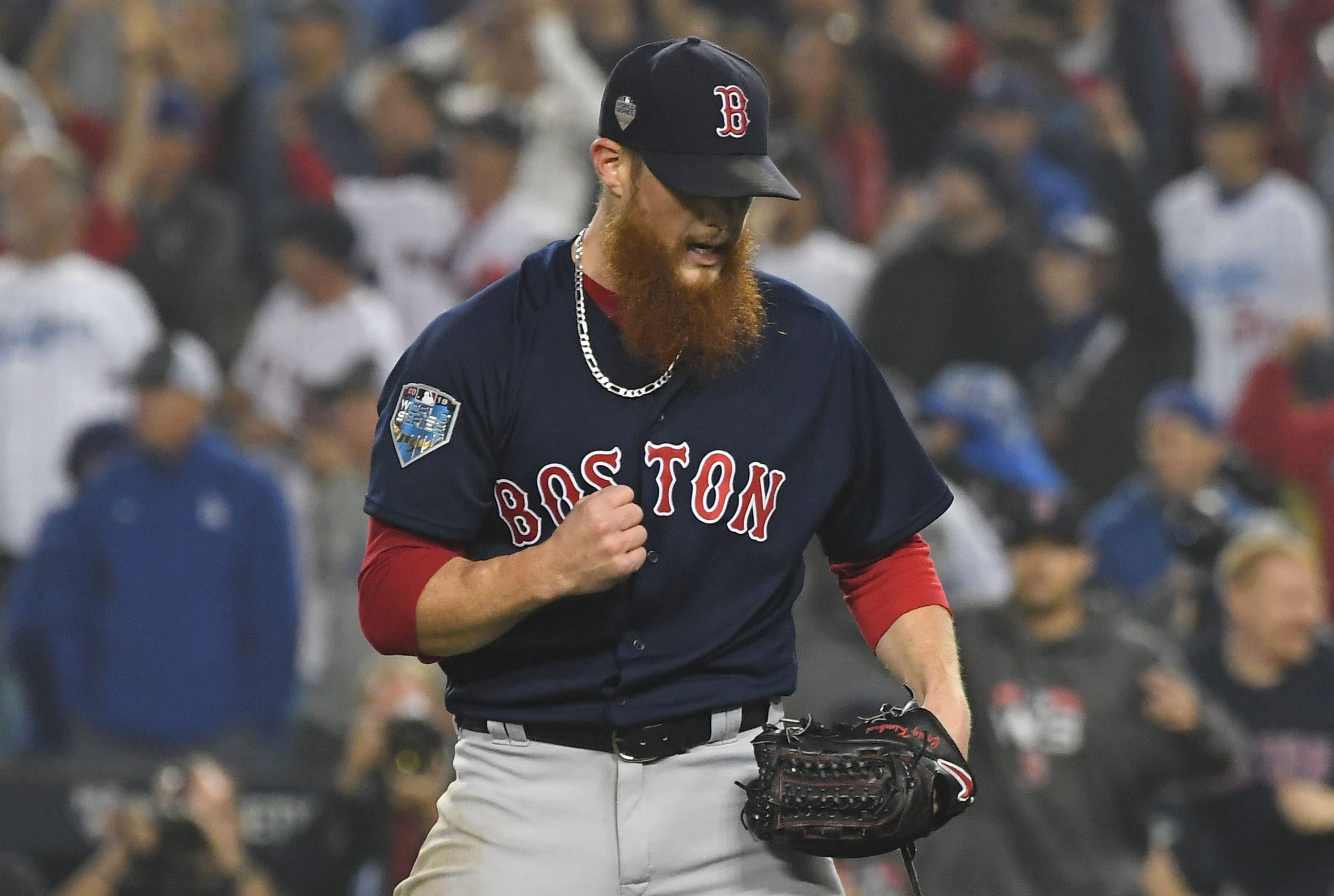 Kimbrel saved 42 games for the Red Sox in 2018.