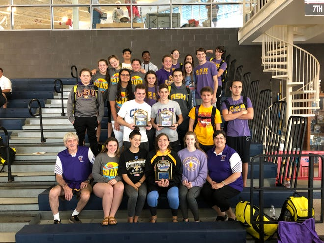 The Alexandria Senior High swim team finished first in the combined standings at the RRHSSC meet in Ruston on Nov. 3