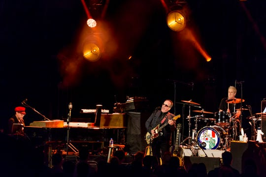 Elvis Costello & The Impostors perform at The Paramount Theater in Asbury Park, New Jersey.