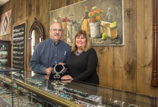 Owners Margaret and Vance Valente of Quicksilver in Red Bank have sold handcrafted jewelry for 47 years.
