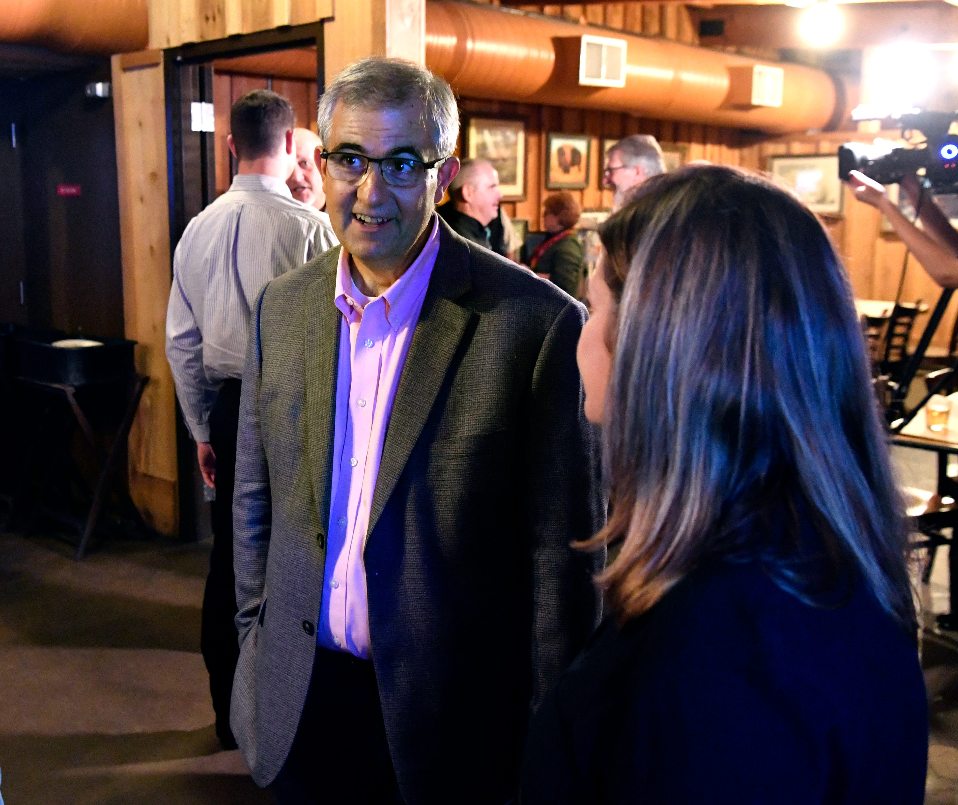 In this file photo, Abilene Independent School District Superintendent David Young speaks with supporters at an election watch party at Lytle Land & Cattle Company Nov. 6. Young's contract was extended by trustees one year Thursday by unanimous decision, 7-0.