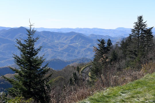 Views that draw tourists from around the world to Western North Carolina, such as this overlook from Waterrock Knob on the Blue Ridge Parkway, have become clearer after years of air quality improvements, including the reduction of ozone, a main component in smog.