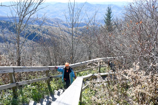 While much of the Blue Ridge Parkway in Western North Carolina is closed the weekend of Nov. 10-11 for wintry weather at the parkway's higher elevations, visitors are still allowed to walk, hike or bicycle ride behind the closed gates.