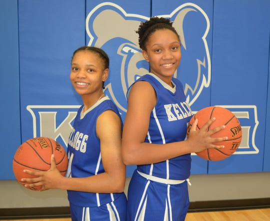 The KCC women's basketball team will be led by, from left, Destiny Kincaide and DeeDee Post.