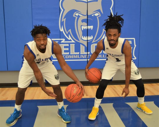 The KCC men's team will be led by, from left, Tishaun Cooper and Victor Sheffey.