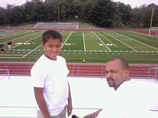 Jeremiah Allen, left, and his father, Jamie Allen.