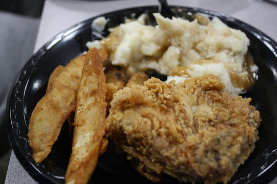 For members of the Chenango Forks football team's offensive line, eating Kentucky Fried Chicken on Tuesday is tradition.