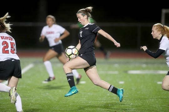 Klahowya's Hope Martin scored two goals in the Eagles' 7-0 win over Tenino in Tuesday's Class 1A state tournament game at Silverdale Stadium.