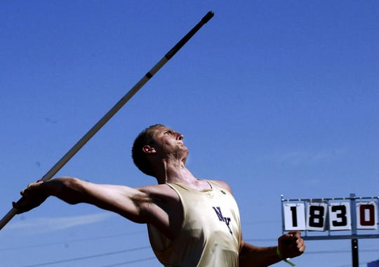 Ryan Young won two state javelin titles at North Kitsap and later competed in the Olympic Trials.
