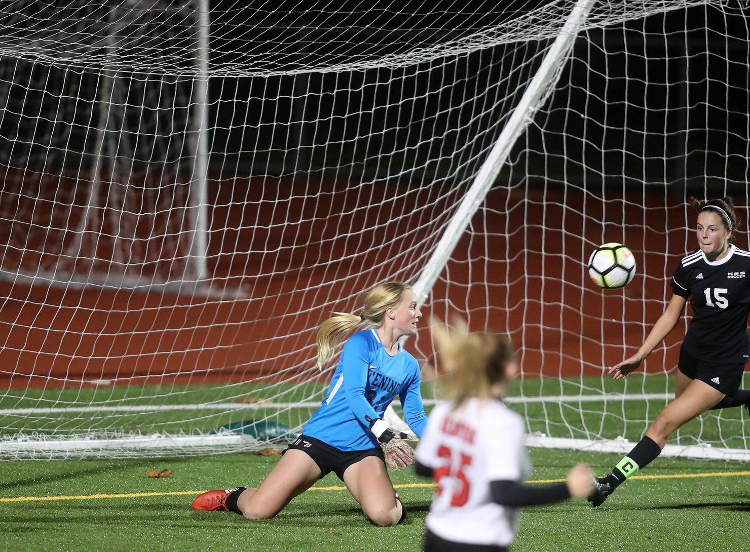 Klahowya defeated Tenino 7-0 in a state soccer game Tuesday, November 6, 2018 at Silverdale Stadium.