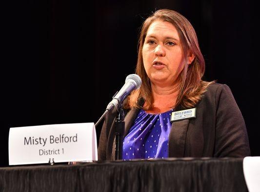 Misty Belford is re-elected to Brevard School Board District 1.