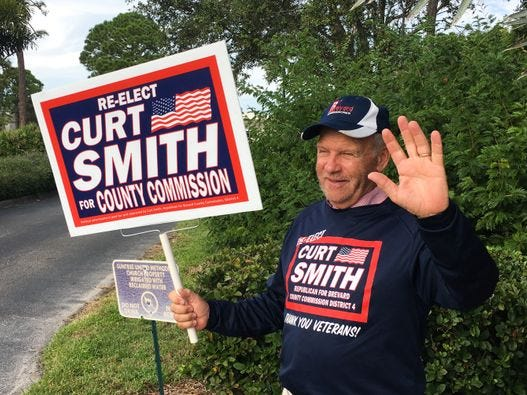 Curt Smith wins re-election to Brevard County Commission District 4.