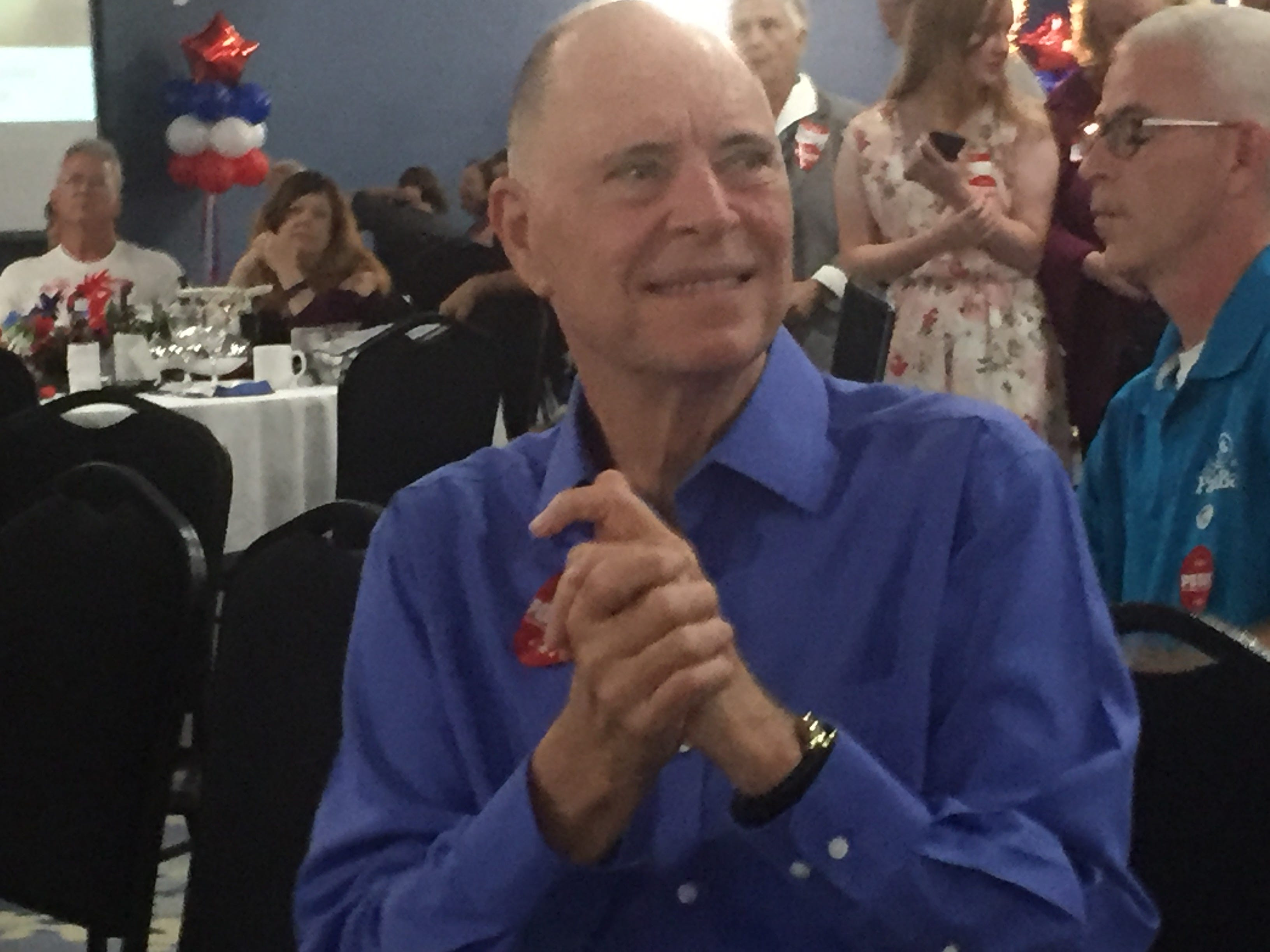 U.S. Rep Bill Posey is pictured as election results come in during a watch party at Holiday Inn in Viera.