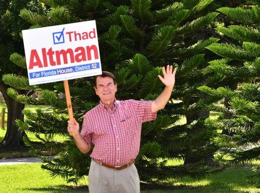 Thad Altman earns another term in office, winning House District 51 seat.