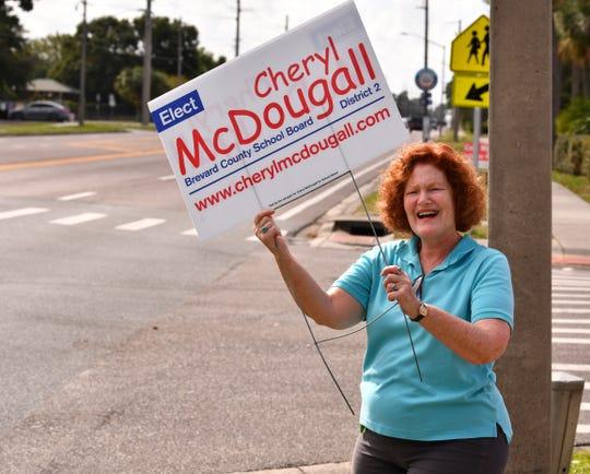 Cheryl McDougall at the Cocoa Rockledge Garden Club.