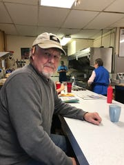 Tim Hartwick of Burlington seen at Handy's Lunch the morning after the midterm election on Wednesday, Nov. 7, 2018.