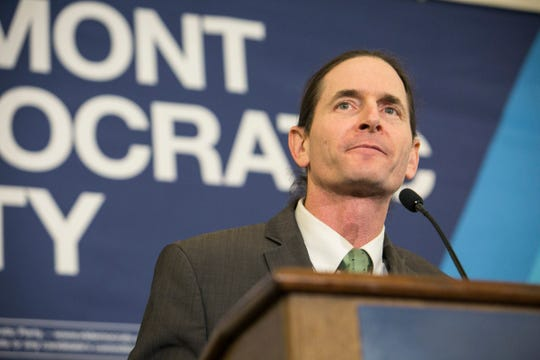 Lieutenant Governor David Zuckerman speaks after the elections at the Hilton in Burlington, Vermont on Tuesday, November 6, 2018.