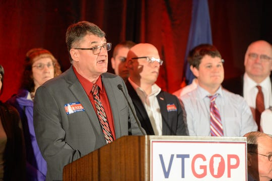 Don Turner conceding on Tuesday night at the Double Tree by Hilton in Burlington.